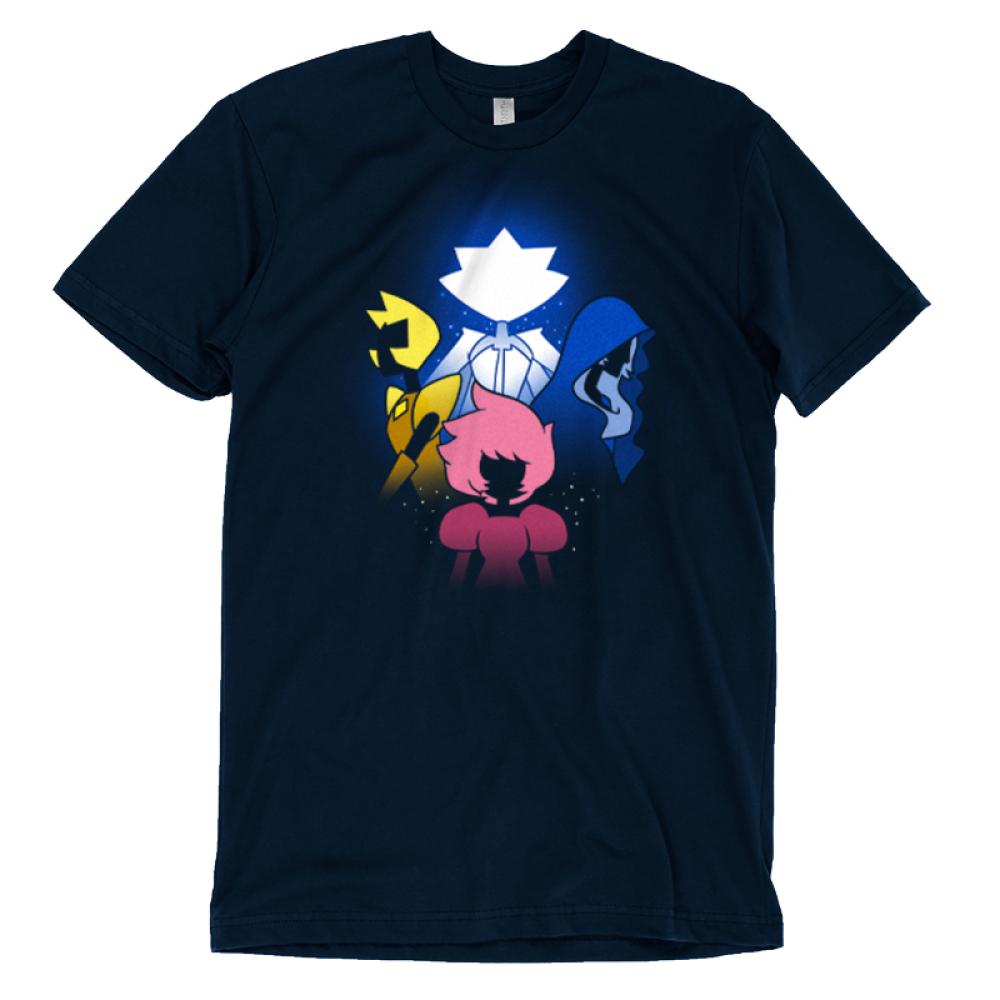 The Diamonds T-shirt Cartoon Network TeeTurtle black t-shirt featuring the diamond authority from Steven Universe