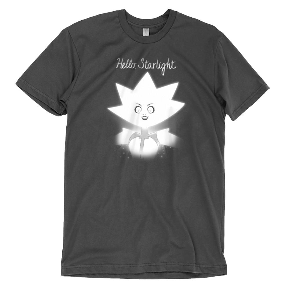 Hello Starlight t-shirt TeeTurtle Steven Universe t-shirt featuring White Diamond from Steven Universe with shirt text