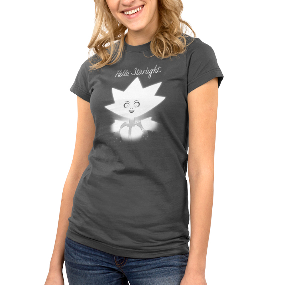 Hello Starlight juniors' t-shirt model TeeTurtle Steven Universe t-shirt featuring White Diamond from Steven Universe with shirt text