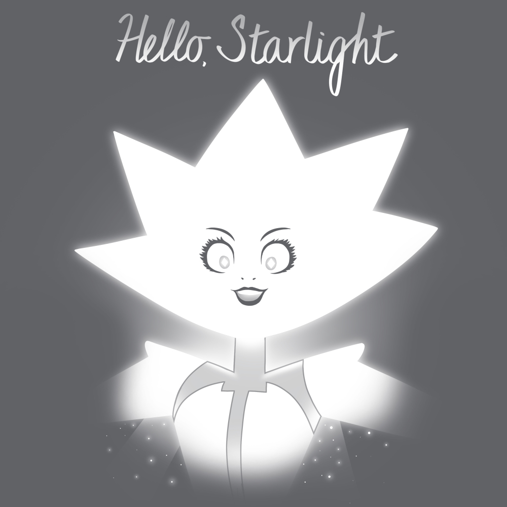 Hello Starlight t-shirt TeeTurtle Steven Universe t-shirt featuring White Diamond from Steven Universe with shirt text