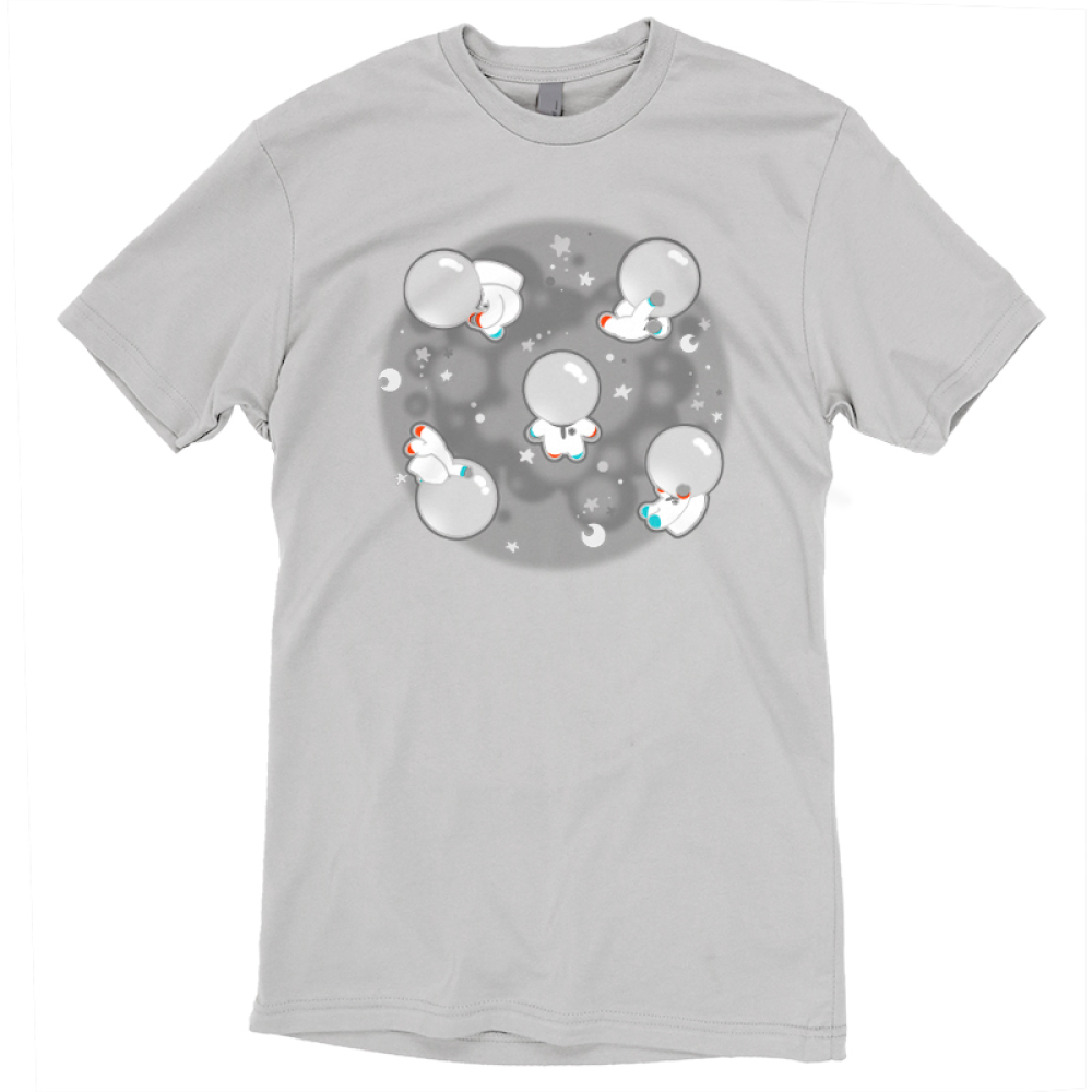 Space Bobs t-shirt TeeTurtle gray t-shirt featuring a bunch of blobs floating around