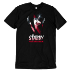 Stabby the Unicorn (v2) T-shirt TeeTurtle black t-shirt featuring stabby the unicorn with shirt text