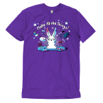 Make All the Things! t-shirt TeeTurtle purple t-shirt featuring a crafty white bunny surrounded by yarn, paint, scissors, glue, markers, and stars