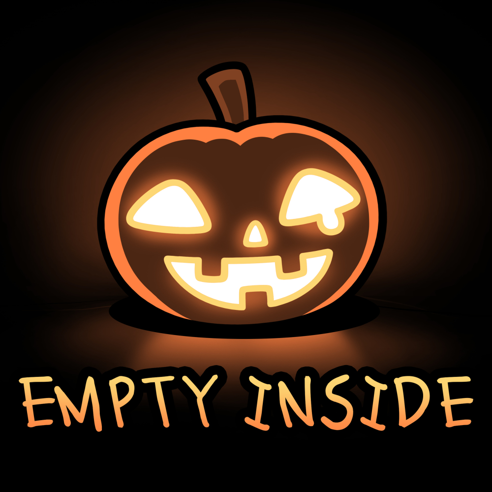 Empty Inside t-shirt TeeTurtle black t-shirt featuring a smiling jack-o-lantern
