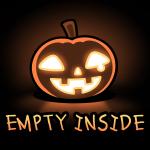 Empty Inside t-shirt TeeTurtle black t-shirt featuring a smiling jack-o-lantern