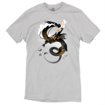 Halloween Knight t-shirt TeeTurtle t-shirt featuring a knight with a sword on fire battling on the back of a dragon