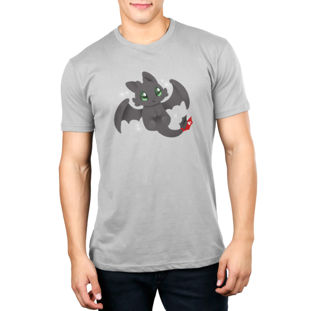 Kawaii Toothless Men's t-shirt model How to Train Your Dragon t-shirt featuring Toothless
