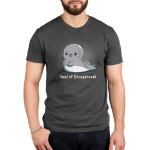 Seal of disapproval Men's t-shirt model TeeTurtle t-shirt featuring an upset looking seal crossing his fins