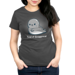Seal of disapproval Women's t-shirt model TeeTurtle t-shirt featuring an upset looking seal crossing his fins