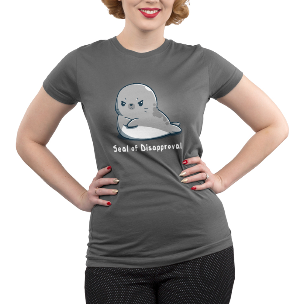 Seal of disapproval Junior's t-shirt model TeeTurtle t-shirt featuring an upset looking seal crossing his fins