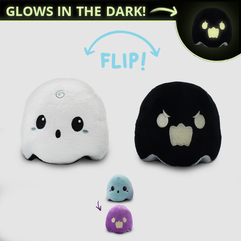 Reversible Ghost Mini Plushie TeeTurtle