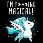 I'm F***ing Magical t-shirt TeeTurtle black t-shirt featuring a unicorn