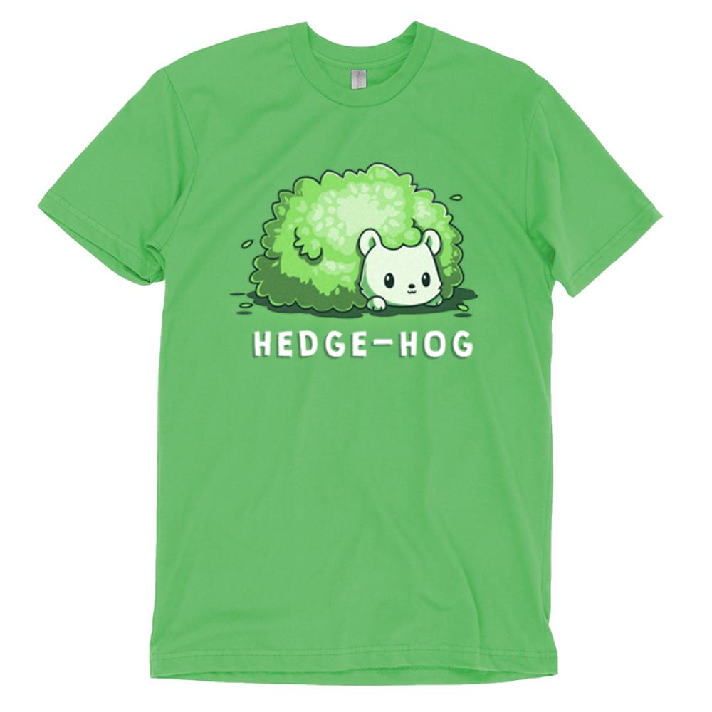 Hedge-Hog t-shirt TeeTurtle apple green t-shirt featuring a green hedgehog that looks like a bush