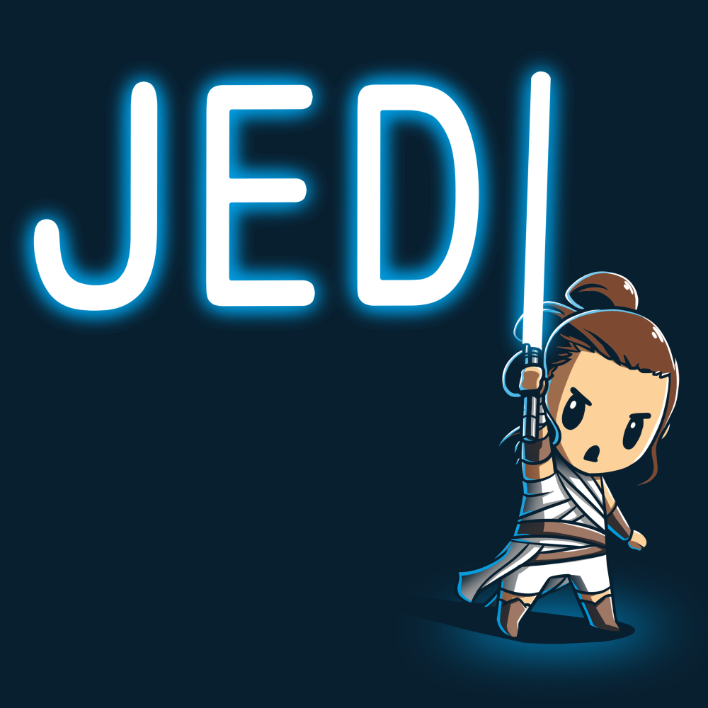 Jedi t-shirt officially licensed navy star wars t-shirt featuring a jedi with a lightsaber