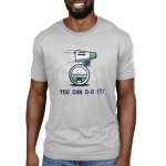 You can d-o it Men's t-shirt model officially licensed silver star wars t-shirt featuring d-o