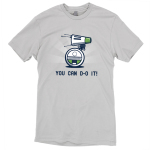 You can d-o it t-shirt officially licensed silver star wars t-shirt featuring d-o