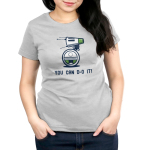 You can d-o it Women's t-shirt model officially licensed silver star wars t-shirt featuring d-o
