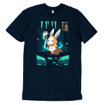 Mage Class t-shirt TeeTurtle navy t-shirt featuring a bunny in a video game
