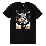Warrior Class t-shirt TeeTurtle black t-shirt featuring a fox as a warrior in a video game