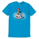Pua and Hei Hei t-shirt TeeTurtle officially licensed cobalt blue t-shirt featuring Pua and Hei Hei from Moana