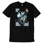 Sorcerer Class t-shirt TeeTurtle black t-shirt featuring a video game dragon with a green fire ball in its paw