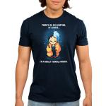 I'm a Really Terrible Person Men's t-shirt model officially licensed navy Disney t-shirt featuring Cruella De Vil from 101 Dalmatians