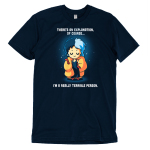 I'm a Really Terrible Person t-shirt officially licensed navy Disney t-shirt featuring Cruella De Vil from 101 Dalmatians