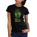 Mean Queen Junior's t-shirt model officially licensed black Disney t-shirt featuring Maleficent from Disney Sleeping Beauty