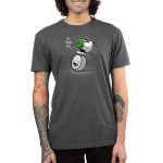 No Thank You. Men's t-shirt model officially licensed charcoal Star Wars t-shirt featuring D-O