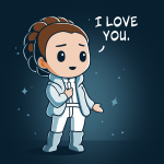 I Love You (Episode V) t-shirt officially licensed navy Star Wars t-shirt featuring Princess Leia