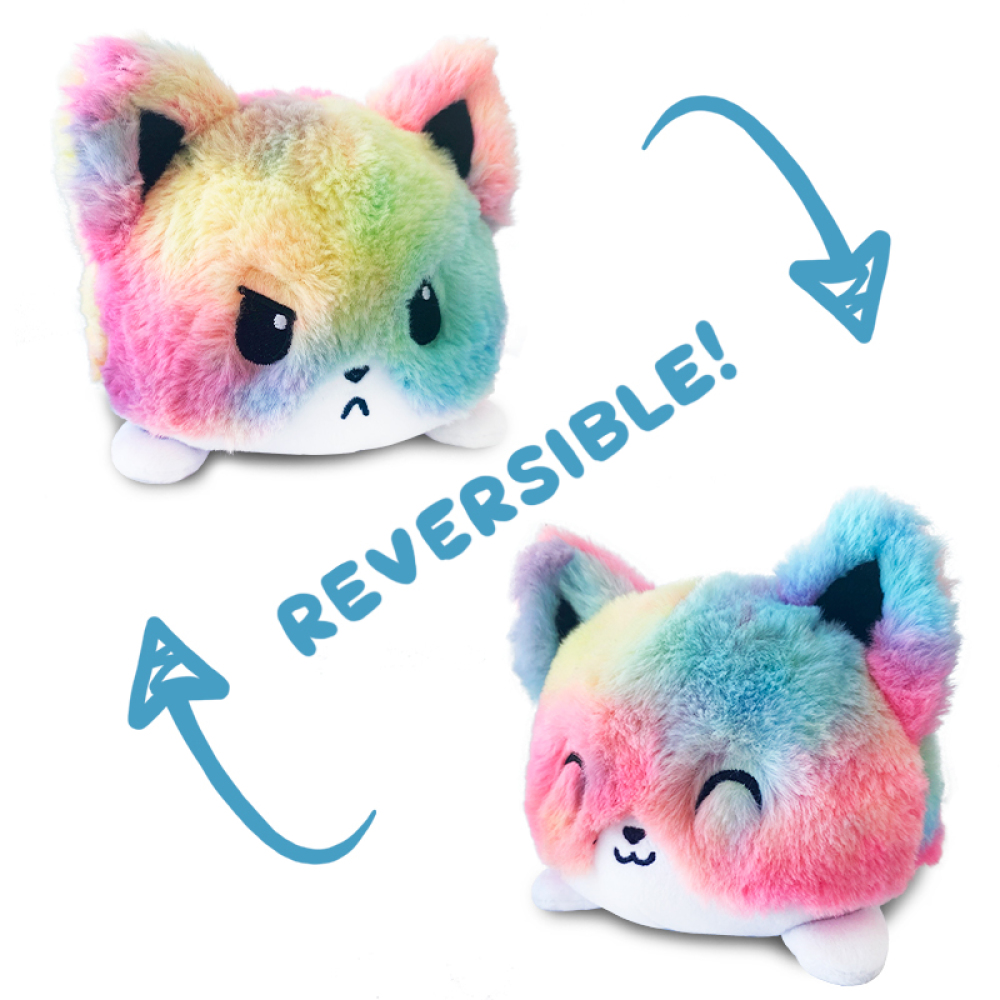 Reversible Tie-Dye Fox mini TeeTurtle Tie-Dye reversible fox plushie