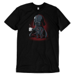#1 Dad t-shirt officially licensed Star Wars black t-shirt featuring Darth Vader holding a coffee mug that says #1 Dad