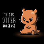 This is Otter Nonsense t-shirt TeeTurtle black t-shirt featuring an otter sitting down with its arms crossed looking angry