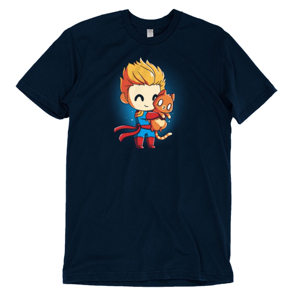 BFFs (Captain Marvel and Chewie) t-shirt officially licensed Marvel t-shirt featuring Captain Marvel smiling and hugging Chewie very tight