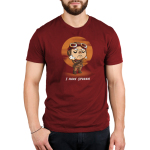 I Have Spoken Men's t-shirt model officially licensed garnet red Star Wars t-shirt featuring Kuill from The Mandalorian with his arms crossed with a red sun behind him