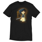 Brave, Loyal, and True t-shirt officially licensed Disney black t-shirt featuring Mulan with a sword in her hand