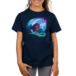 How Far I'll Go Kid's t-shirt model officially licensed Disney navy t-shirt featuring Moana