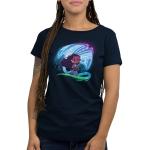 How Far I'll Go Women's t-shirt model officially licensed Disney navy t-shirt featuring Moana