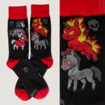 Four Unicorns of the Apocalypse Socks TeeTurtle socks featuring deadly looking unicorns and skulls