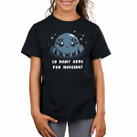 Spider Hugs Kid's t-shirt model TeeTurtle black t-shirt featuring a gray spider with 8 big cute eyes with sparkles behind him