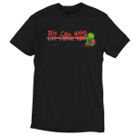 Die, Cry, Hate t-shirt TeeTurtle black t-shirt featuring the Live. Laugh. Love motto that has a red line painted in it with Die. Cry. Hate written instead with a turtle holding a paint brush with a skull painted on its shell