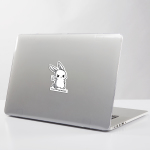 Imagery of sticker on a laptop