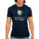 She is Fierce Men's t-shirt model officially licensed navy Disney t-shirt featuring Tinker Bell looking confident with her hands on her hips and sparkles behind her wings