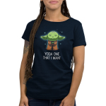 Yoda One That I Want women's t-shirt modelTeeTurtle original t-shirt featuring Yoda connecting with the force and closing his eyes