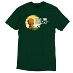 Save the Galaxy tshirt officially licensed forest green tshirt featuring groot planting some saplings