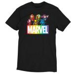 Marvel X-Men tshirt officially licensed black tshirt featuring the x-men in a rainbow fashion
