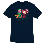 Vision and Scarlet Witch tshirt officially licensed navy tshirt featuring Vision and Scarlet Witch using their powers
