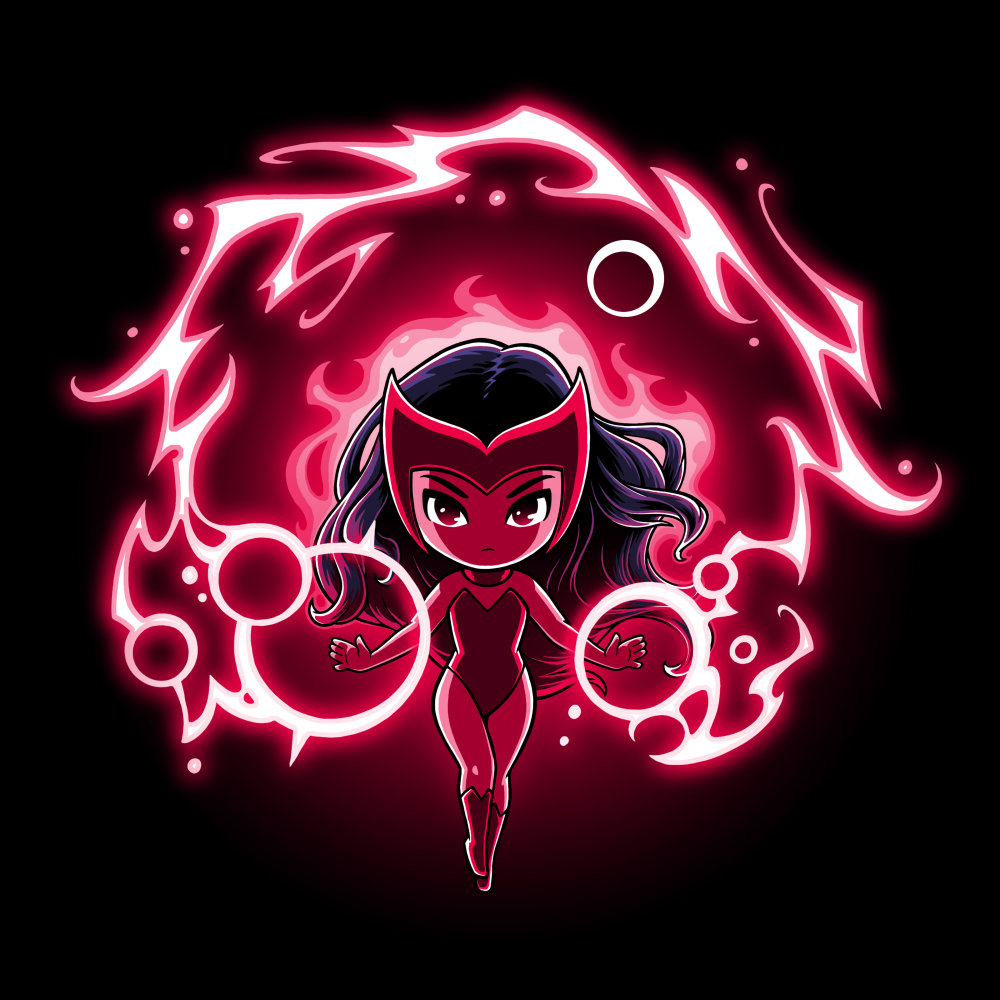 Scarlet Witch tshirt officially licensed black tshirt featuring scarlet witch floating in her magic