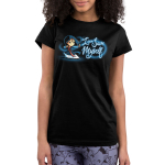 I can save myself Junior's tshirt model officially licensed black tshirt featuring mulan in fighting stance
