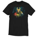 Bifrost Bridge tshirt officially licensed black tshirt featuring loki on the bridge to asgard